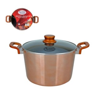 Dutch Oven Aluminum8Qt Nonstick coating, Copper Metallic, Ba 643700276308