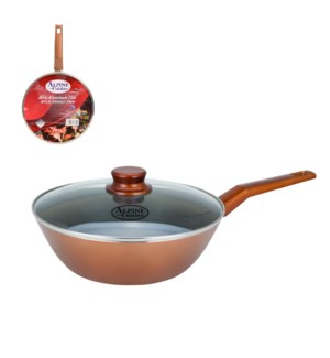 Wok Aluminum11in Nonstick coating, Copper Metallic, Bakelite 643700276315