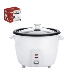 Rice cooker 1.5L, 8 cups with glass lid, white, 120V, 60Hz,  643700237101