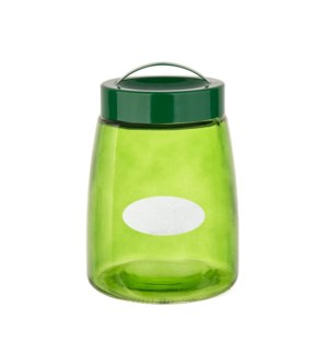 Glass Canister 42.5Oz Green                                  643700292797