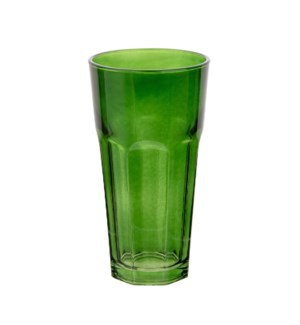 Glass Tumbler 4pc Set 16Oz Green Color                       643700292841