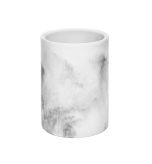 "Utensils Holder Poly Resin 3.5""x3.5""x5.5"" Marble Finished    643700288592"