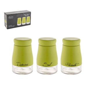 Glass Canister 3pc Set 5Oz Whie Painting                     643700290700