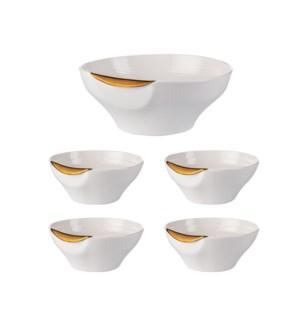 Salad Bowl 5pc Set Porcelain                                 643700316950