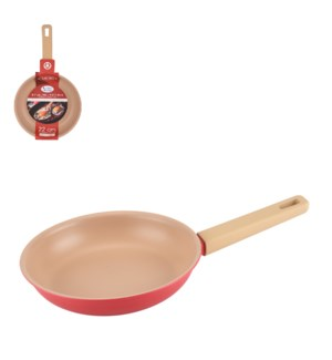 Fry Pan Alum. 8.5in Rough Nonstick Coating and Red rough pai 643700341280