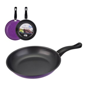 Fry Pan 9.5in Carbon Steel with Grey Nonstick Coating,Purple 643700293909