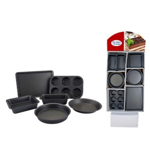 Cake Mold 60pc Set Carbon Steel Nonstick coating, Gray in PD 643700254818