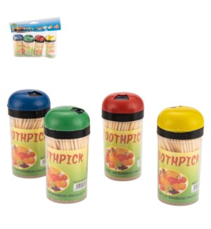 Bamboo Tooth Picks in Plastic jar                            643700319432