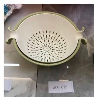 Colander Bowl Set 12x10x5.5in Plastic                        643700332516