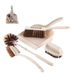 Cleaning Brush 5pc Set 8x12in Plastic                        643700332523