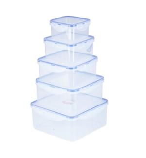 """Food Storage Container 5pc Set, Square""                     643700335012"