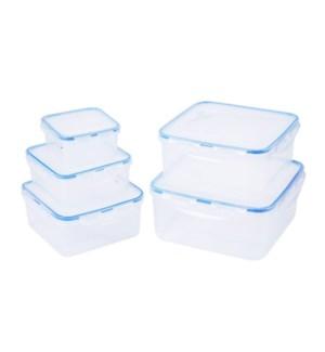 """Food container 5pc set, square""                             643700336484"