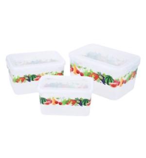 """Food container 3pc set, rectangular""                        643700336507"