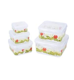 """Food container 5pc set, rectangular""                        643700336521"
