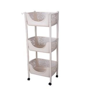 3 Tier Plastic Kitchen Trolley                               643700336576