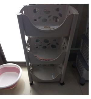 4 Tier Plastic Kitchen Trolley                               643700336583