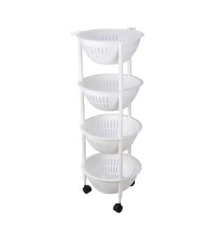 4 Tier Plastic Basket Stand                                  643700336675