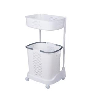 2 Tier Plastic Trolley                                       643700336682
