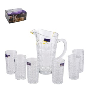 Glass Pitcher 7pc Set With 6pc Cup                           643700340818