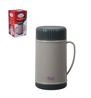 Thermo.PP. 1Liter. Grey and Dark grey Wide Mouth with Foam   643700104137