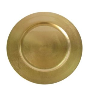 Plastic Charger Plate 13in Gold                              643700136091
