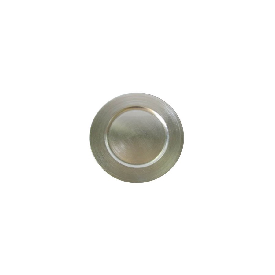 Plastic Charger Plate 13in Silver                            643700136107