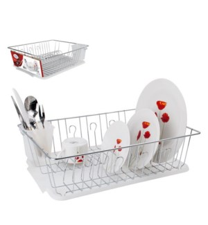 Dish Rack Chrome PP plated cutlery holder 17.7x13.7x5.3in    643700136626