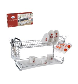 Dish Rack Chrome plated with PP tray 22x10x13.5in            643700142207