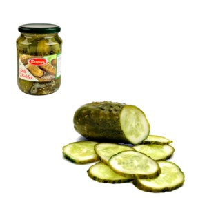 Dill Pickles (OU Symbol) Glass 24oz Bettino                  643700161512