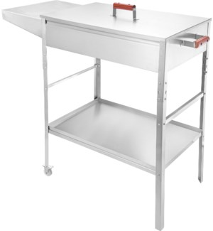 BBQ Grill SS with cover and table 25.8x15.9x34.3in           643700355645