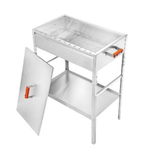 BBQ Grill SS with cover 25.8x15.9x34.3in                     643700173737