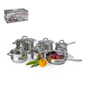 Cookware Set 12pc SS Belly Shape                             643700174949