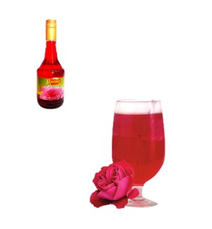 Rose Syrup Glass 600mL Al Mashrek                            64370017631