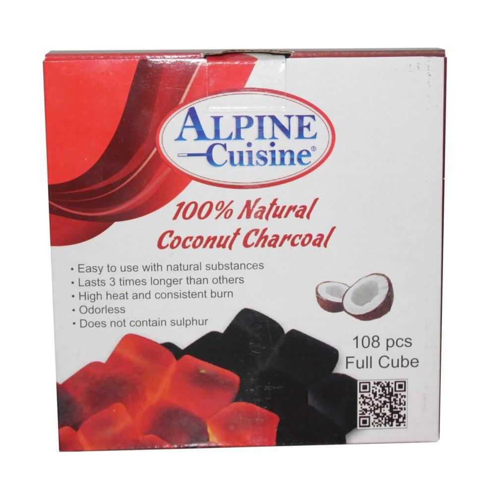 Charcoal coco full cube 1.50kg 108pcs, box                   643700177230