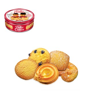 Butter Cookies (Red Packaging) Tin Can 12Oz 340g Bettino     643700279545