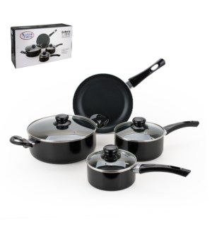 Cookware 7pc Set Aluminum with Nonstick coating Black color  643700215390