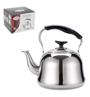Tea Kettle SS 2.0 Li with Bakelite Handle, Mirror Finished   643700210845
