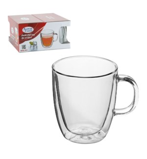 Double Wall mug 4pc set borosilicate, heat resistant Glass 1 643700224422