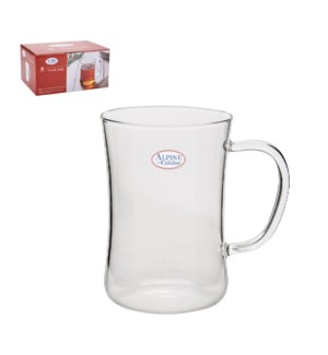 """Tea Glass 6pc Set Borosilicate,Heat Resistant 10.5Oz""       643700319074"