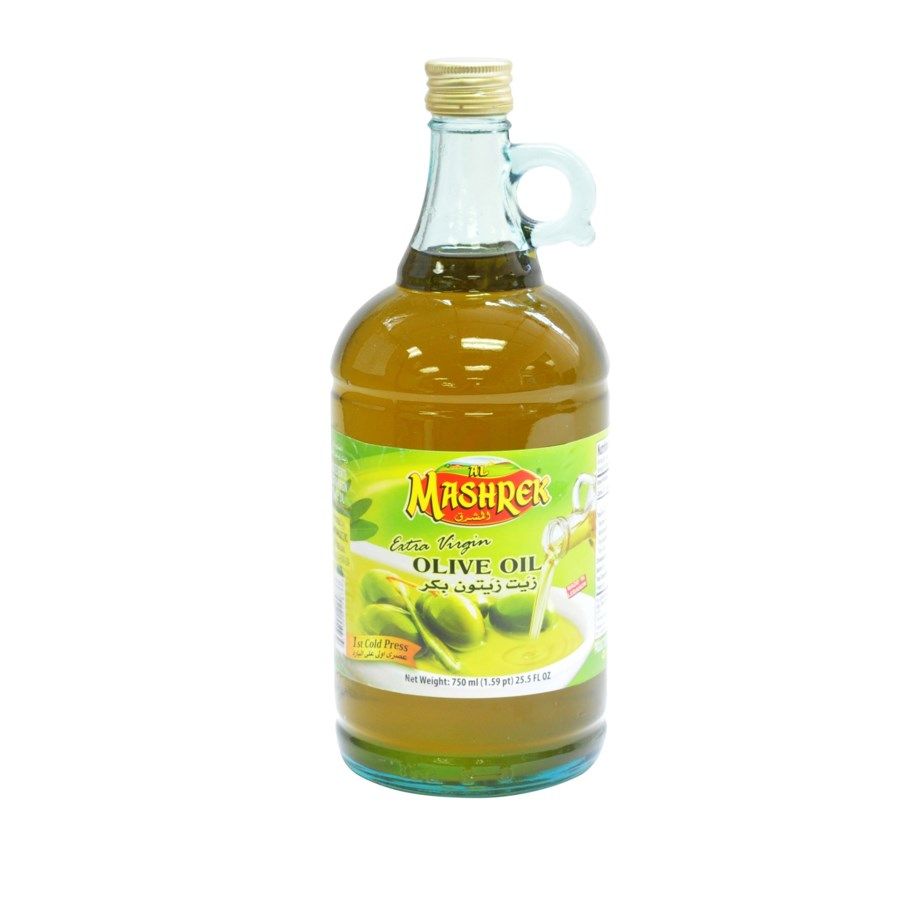 Al Mashrek Extra Virgin Olive Oil 25.3 fl oz 750ml Glass     643700224873