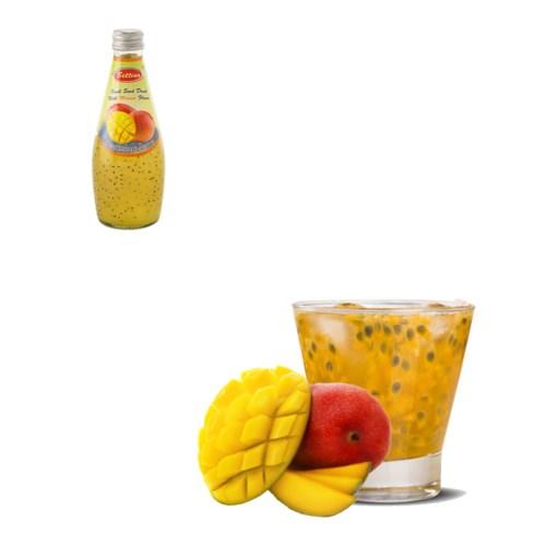Basil Seed Drink Mango Flavors Glass 290mL Bettino           643700226808