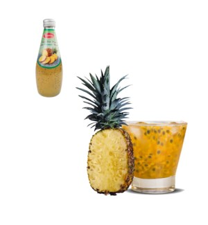 Basil Seed Drink Pineapple Flavors Glass 290mL Bettino       643700226822