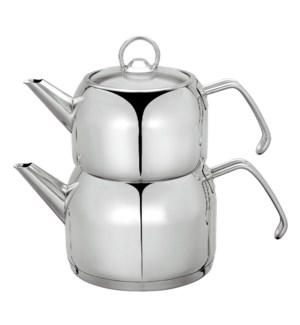 Double Teakettle SS 1.3L, 2L with glass lid                  643700227287