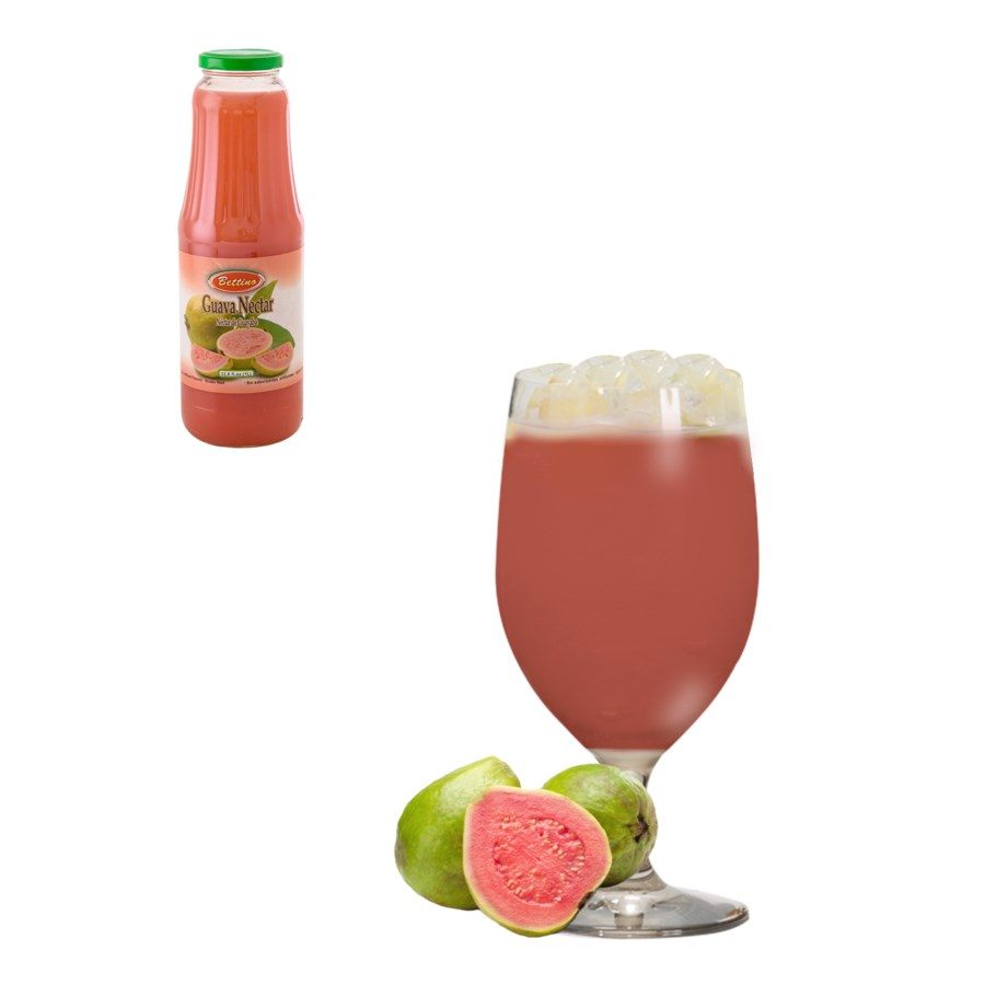 Red Guava Drink Glass 1Li (35% with Pulp) Bettino            643700227461