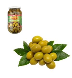Green Olives with Thyme 1000g Al Mashrek                     643700227553