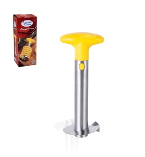 Pineapple Corer and Slicer SS 9.5in with PP Yellow Handle    643700228987