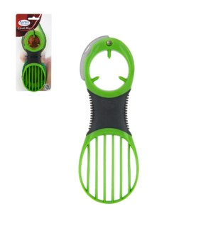 Avocado Slicer PP 6.5in with Stainless steel blade, Green co 643700228994