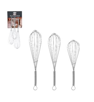 Whisk 3pc set 8in, 10in, 12in                                643700230188