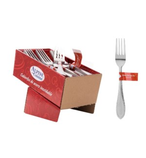 Dinner fork 4pc set SS, 36bdle                               643700230591