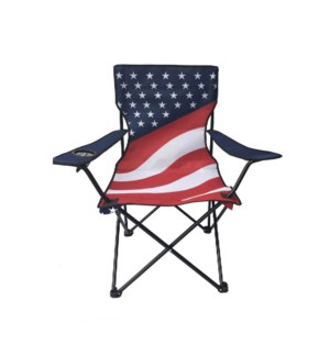 Folding Arm Chair with cup holder 21.5x21.5x17in, 36in       643700230959